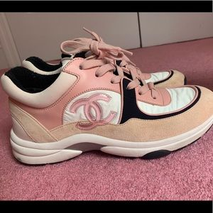 pink CHANEL AUTHENTIC SNEAKERS